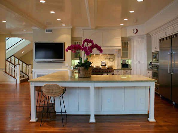 Subtly Beachy: Beaches, Beach Cottages, Counter Top, Bench, Beach Houses, Beach Living, Country Kitchens