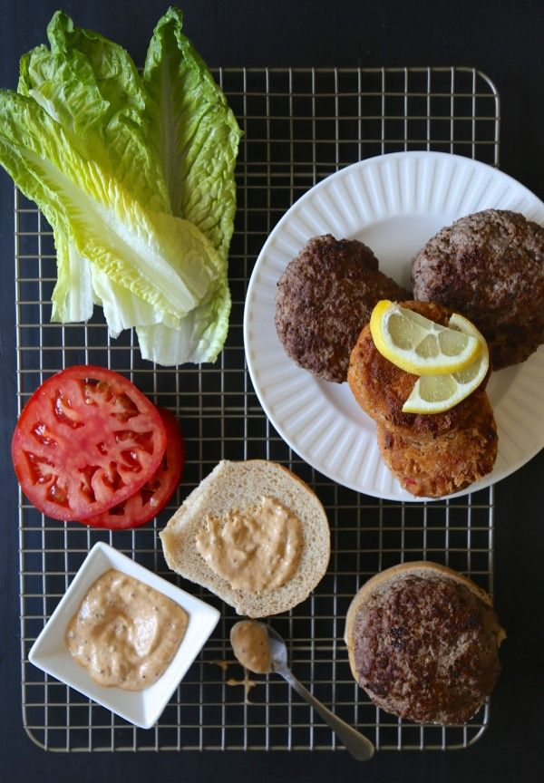 Fire up the grill because this Surf n' Turf Pimento Burger with Cajun Remoulade is an 11/10 situation.