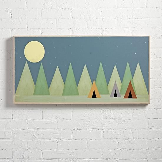 Adding Land of Nod canvas wall art to your kids' room, nursery or playroom helps finishes the decor for any room. Shop for wall art online today.