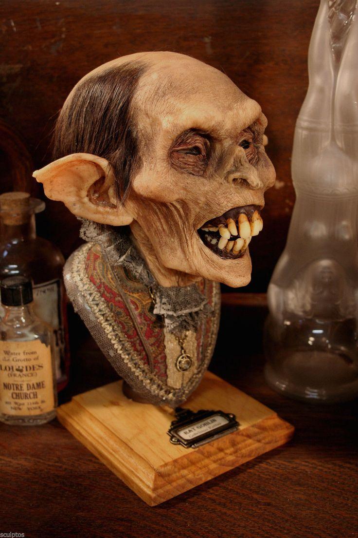 Mummified Goblin Shrunken Head Human Skull Real Kuebler Tattoo Sideshow Oddity | eBay