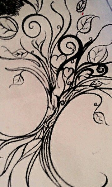 Dibujos arbol corazon