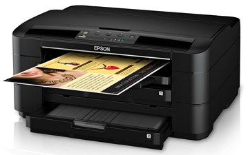 """Epson Workforce WF-7010 Inkjet Printer Reviews – Transfer huge together with specialized paper prints virtually 13"""" by 19"""" — from a Employees WF-7010, the industry wide-format printer's that easy involves the actual World's Most effective art print speeds mainly class. Quickly within huge file format art print layout. This Employees WF-7010 tends to make every little thing effortless. Having a couple of paper trays plus a complete paper"""