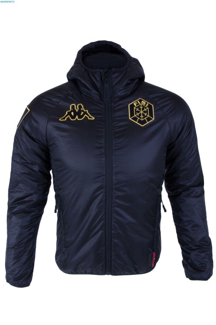 Kappa Men Italian Alpine Team FISI Insulator Jacket - Black Yellow Gold
