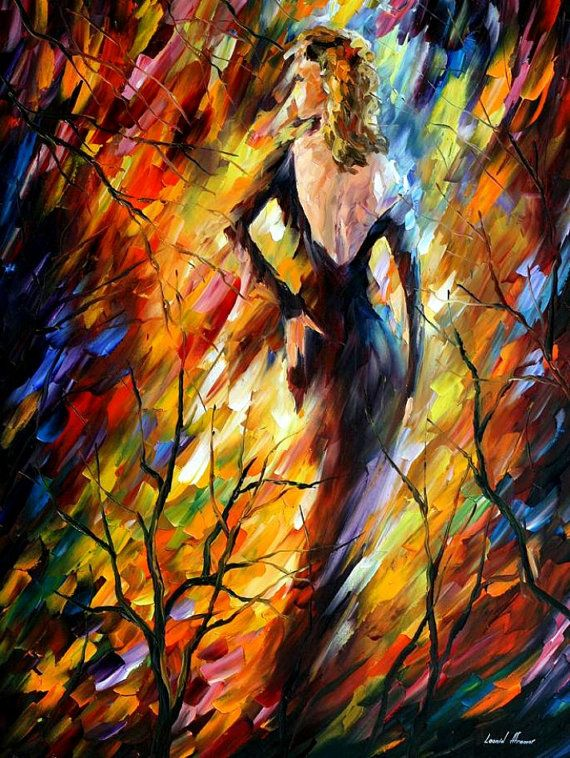 Queen of Fire — PALETTE KNIFE Oil Painting On Canvas By Leonid Afremov #art #painting #fineart #canvas