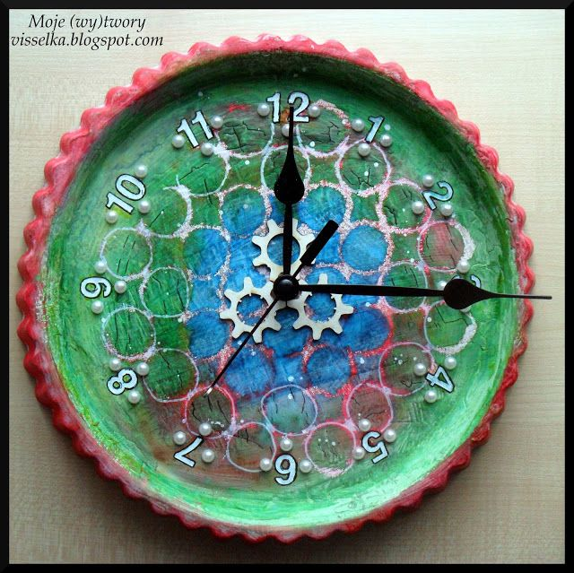 Moje (wy)twory: Mediowy zegar.