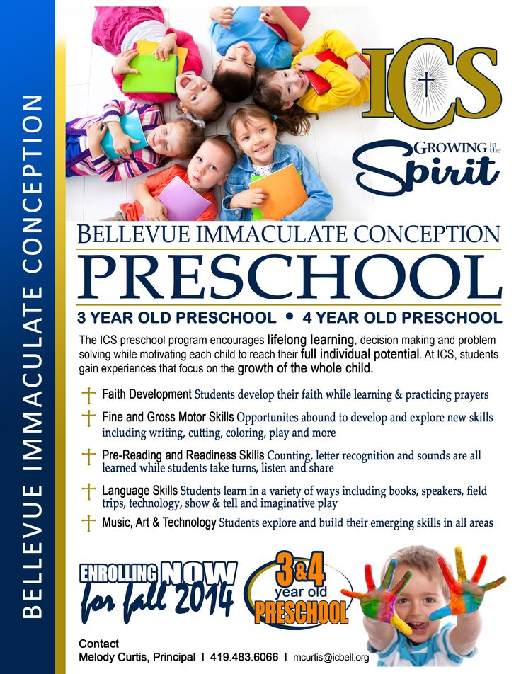 catholic preschool enrollment flyer google search development