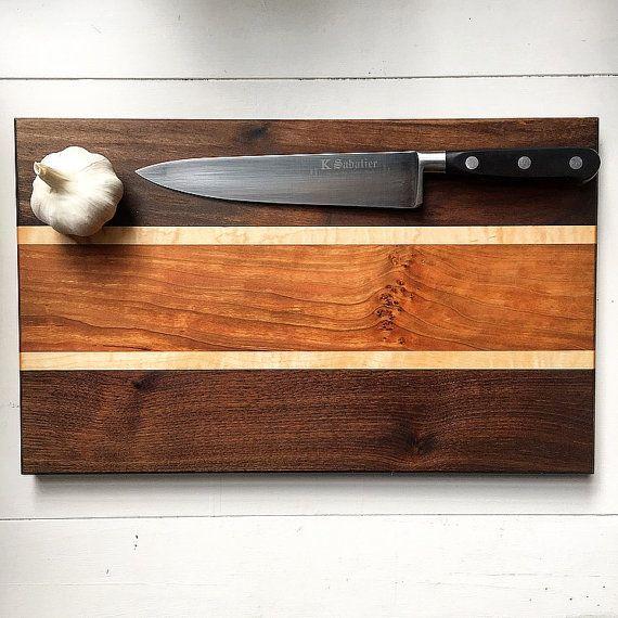 Large Wooden Cutting Board - Walnut Cutting Board - Edge Grain Cutting Board - Hardwood - Handmade