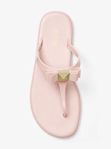 86caf7e26 Michael Kors Caroline Jelly Thong Sandals Soft Pink Size 9M New  MichaelKors   TStrap