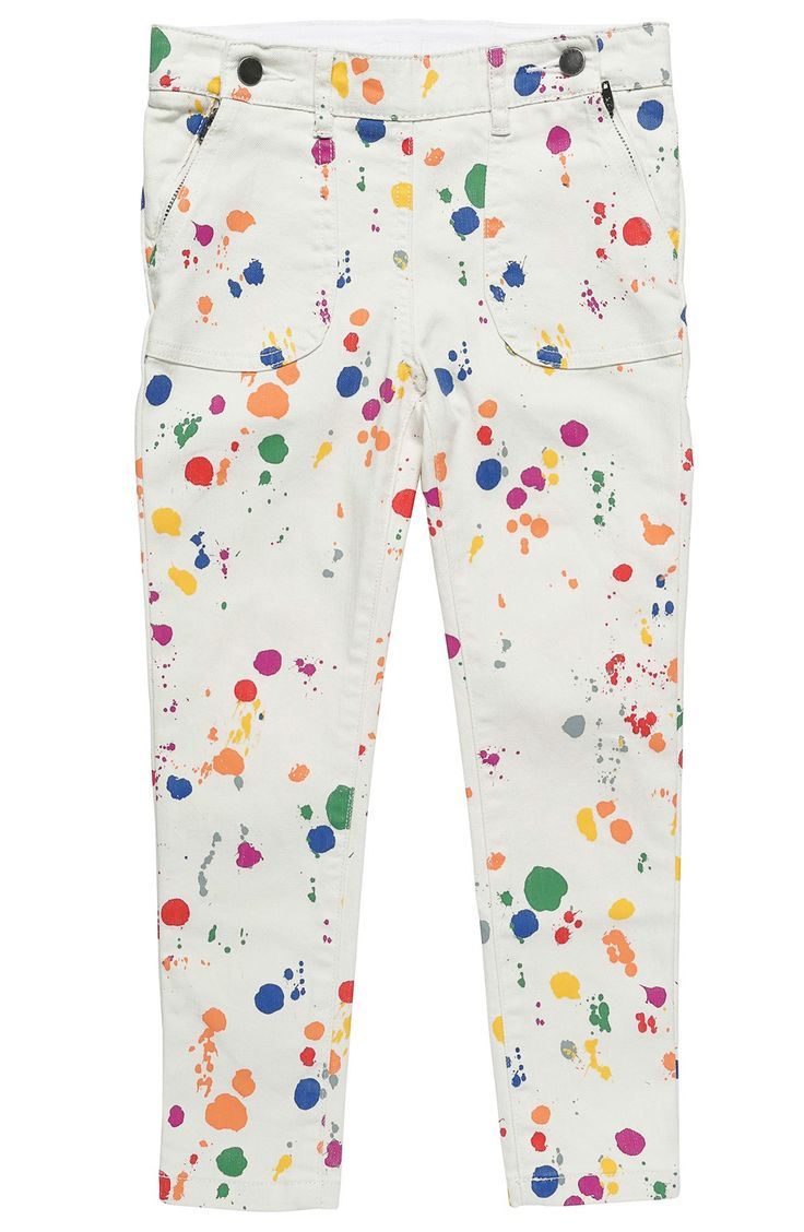 Stella McCartney Kids 'Splat Lou' Paint Splatter Print Skinny Jeans (Toddler Girls, Little Girls & Big Girls)