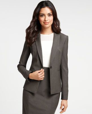 A high neckline is the most appropriate for business professional dress.: Interview Attire, Wool Jackets, Professional Dresses, Job Interview, Tropical Wool, Business Suits, Anne Taylors, Business Casual, Business Professional