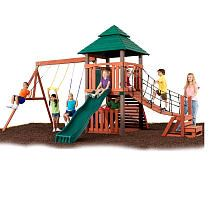 Sherwood Tower Wood Gym Set Swing N Slide Toys R