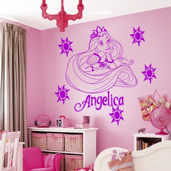 Disney Princess Rapunzel Tangled Wall Sticker Art Decal by JRDecal, £10.99