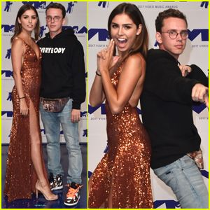Logic & Wife Jessica Andrea Show Their Best Poses at MTV VMAs 2017!