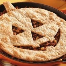 Jack-O-Lantern Sloppy Joe Pie (Halloween Recipe) #iloveavocadosforhalloween