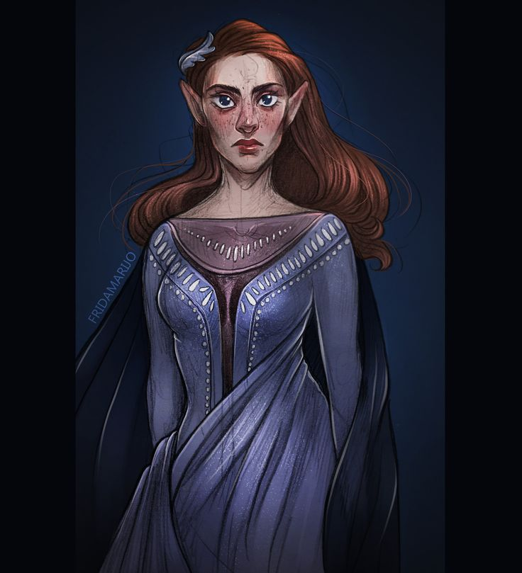 Badass Feyre Archeron: art by silveranadis on tumblr