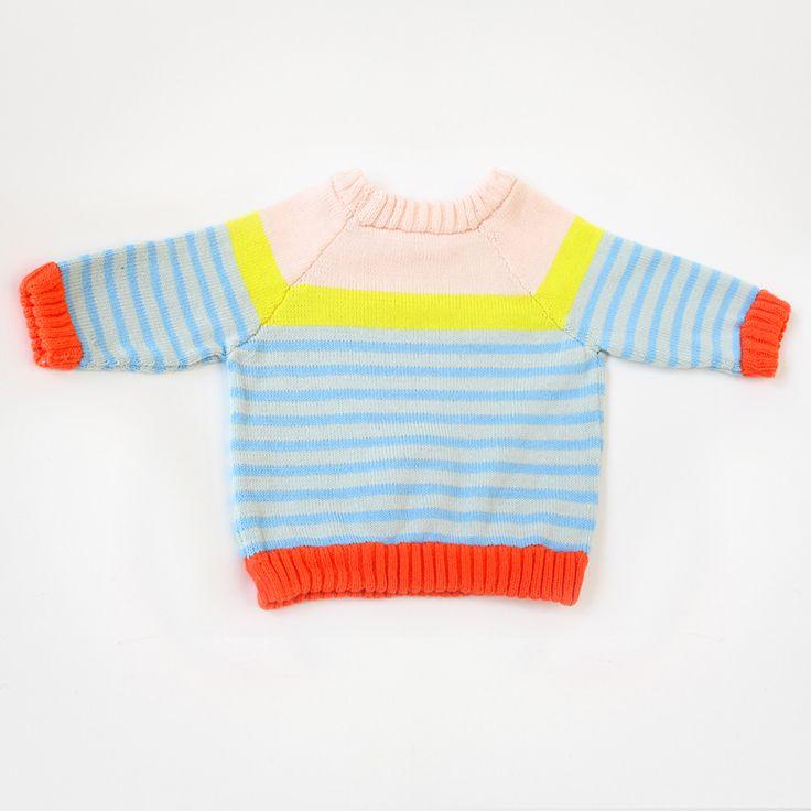 SS14 babyDEGEN stripey raglan sweater