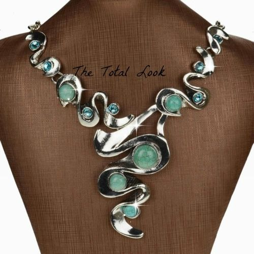 Fashion Jewelry Tibetian Turquoise Silver Bib Necklace . Starting at $6