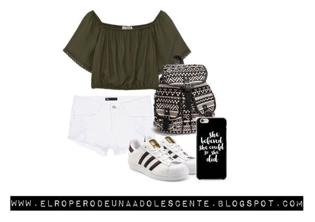 """Green"" by desi2003 on Polyvore featuring moda, 3x1, Pull&Bear, adidas Originals y NLY Accessories"