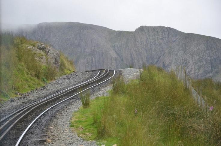 railtrack - half way to the mountain's summit (Snowdon)