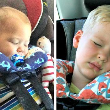 Best kids neck pillow for travel!! Grizzly Bear Neck Pillow - Fynn Baby