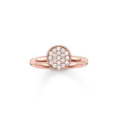 Thomas Sabo ring TR2050 Z15 roze