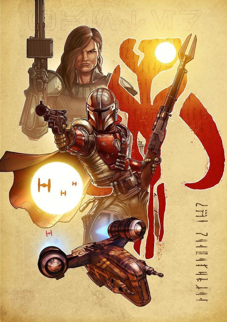 A piece of art for The Mandalorian Star wars art, Star