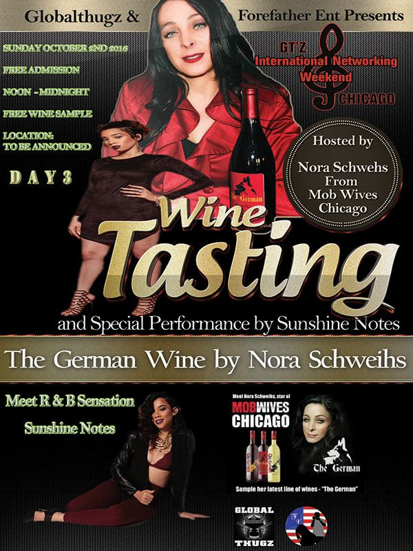 GT'z International Networking Weekend Chicago Day 3 - Wine Tasting w Nora Schweihs of Chicago Mob Wives