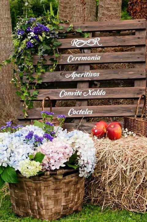Decoracion boda rustica boda rustica r r pinterest for Decoracion rustica campestre