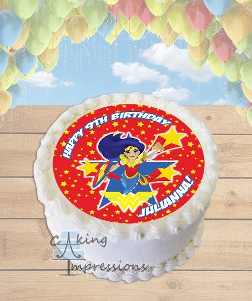 78+ Images About Girl Superhero Birthday Cakes On