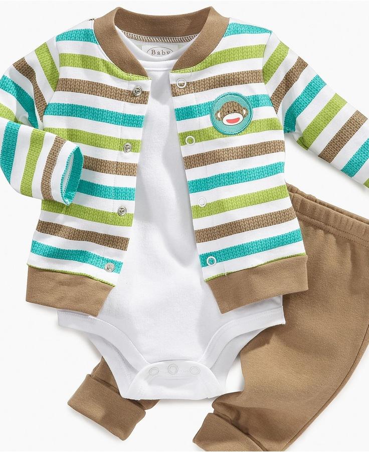 Macy's Sock Monkey Boys Jacket Set
