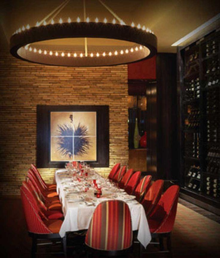 modern restaurant interior design envy steakhouse las vegas private parties - Beaded Inset Restaurant Interior