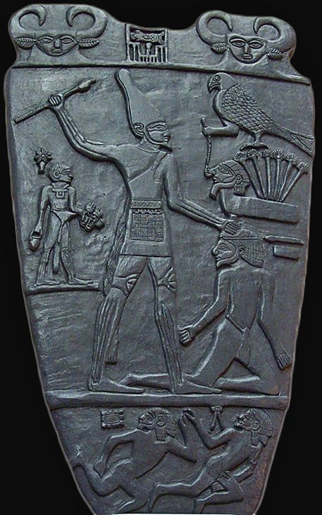 The Narmer Palette is one of the earliest historical records from ancient Egypt. It records King Narmer's victory over Lower Egypt,