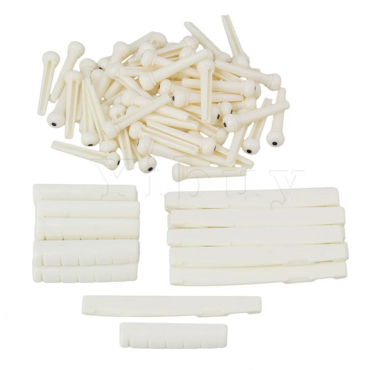 ==> [Free Shipping] Buy Best Yibuy 50 x Cream Color Plastic 6 String Acoustic Folk Guitar Bridge Pins Saddles Nuts Online with LOWEST Price | 32759097659