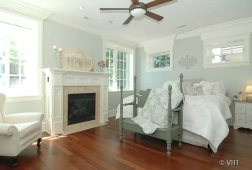 Bedrooms fireplace in bedroom bedroom fireplace gray - Blue green paint colors for bedroom ...