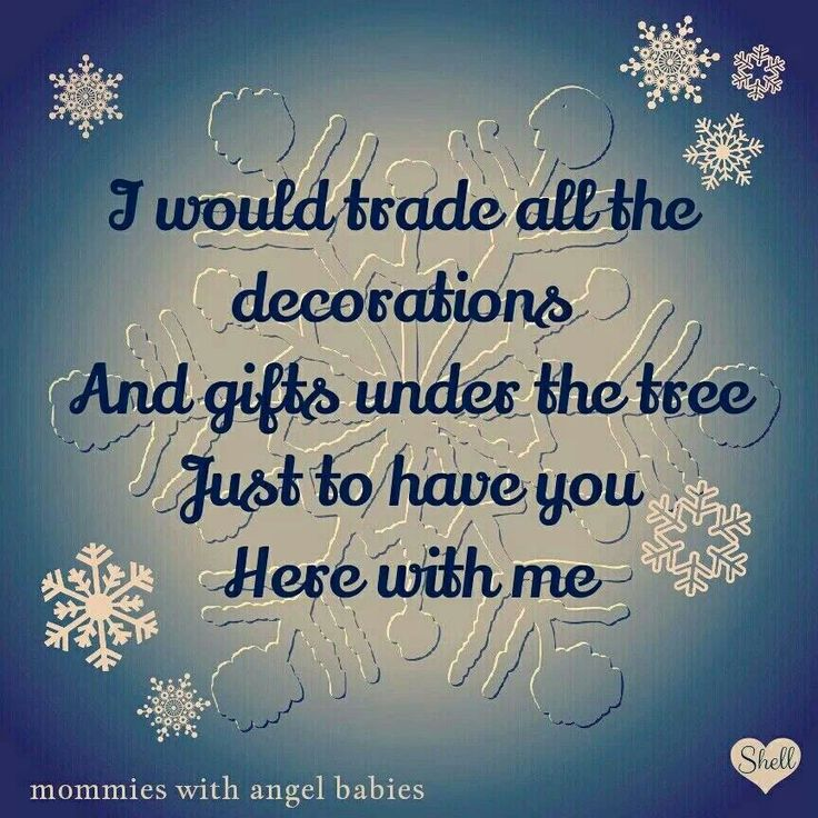 I would trade all the decorations and gifts under the tree just to have you here with me..