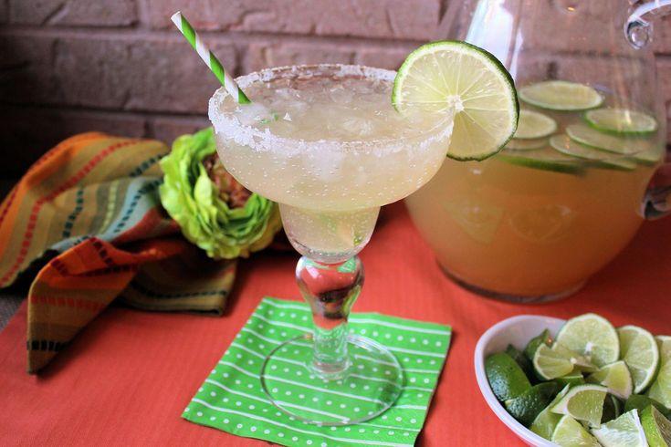 Top Shelf Margarita's 1 can(s) frozen limeade 2 1/2 c  premium gold tequila liquor 1 c Grand Mariner liqueur 4 1/3 c water 2 limes 1 container of margarita salt