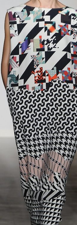 deconstructed geometrics and fragments of traditional patterns is the hottest trend in patterns for fall 2014
