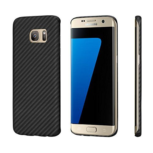 Galaxy S7 edge Case, PITAKA [Aramid Fibre] 0.65mm Super Slim Bullet-proof Material Sturdy Hard Case Protective Snap Back Cover for Samsung Galaxy S7 edge - Black/Grey Twill - The phone cases are made from Aramid fibre, which is originally developed and used in aerospace or military applications. Following are some general features of Aramid: High strength Good resistance to abrasion Good resistance to organic solvents Non-conductiveNo melting point Low flammabilityTha...
