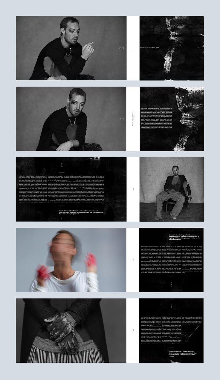 Daniel Johns feature. Issue 46. #editorialdesign #layout #typography #monsterchildren #printdesign