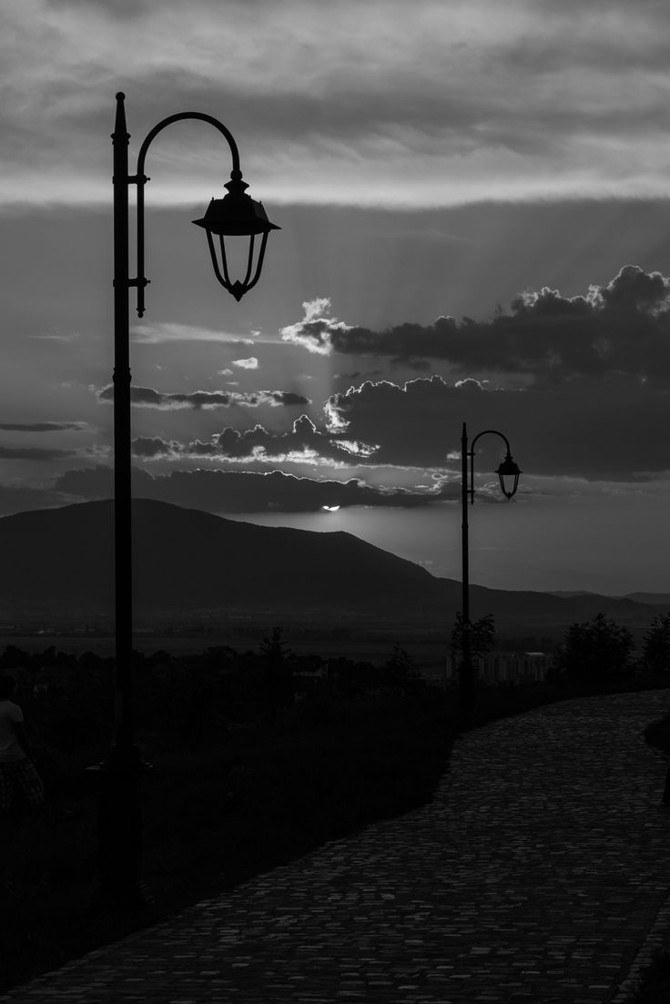 Sunset in B&W - null