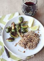 PECAN TILAPIA AND BAKED BRUSSELS