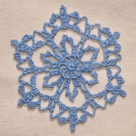 snowflake - crochet free pattern