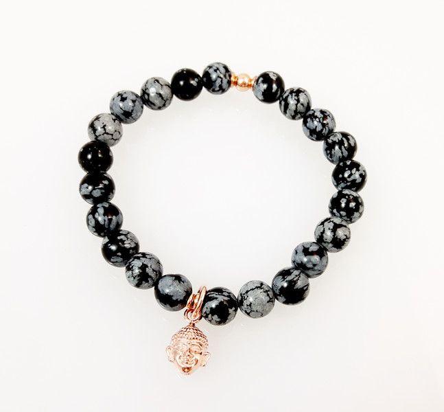 Männerarmband • Kugelarmband • Obsidian • Buddha  von Simply O Schmuckdesign auf DaWanda.com