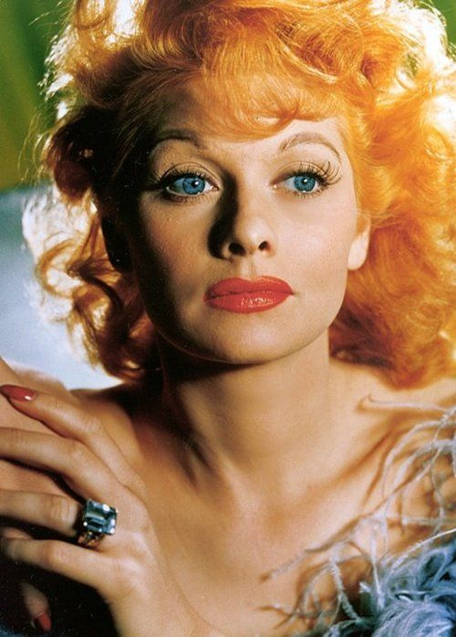 close-up shows you just how stunning a young Lucille Ball was...