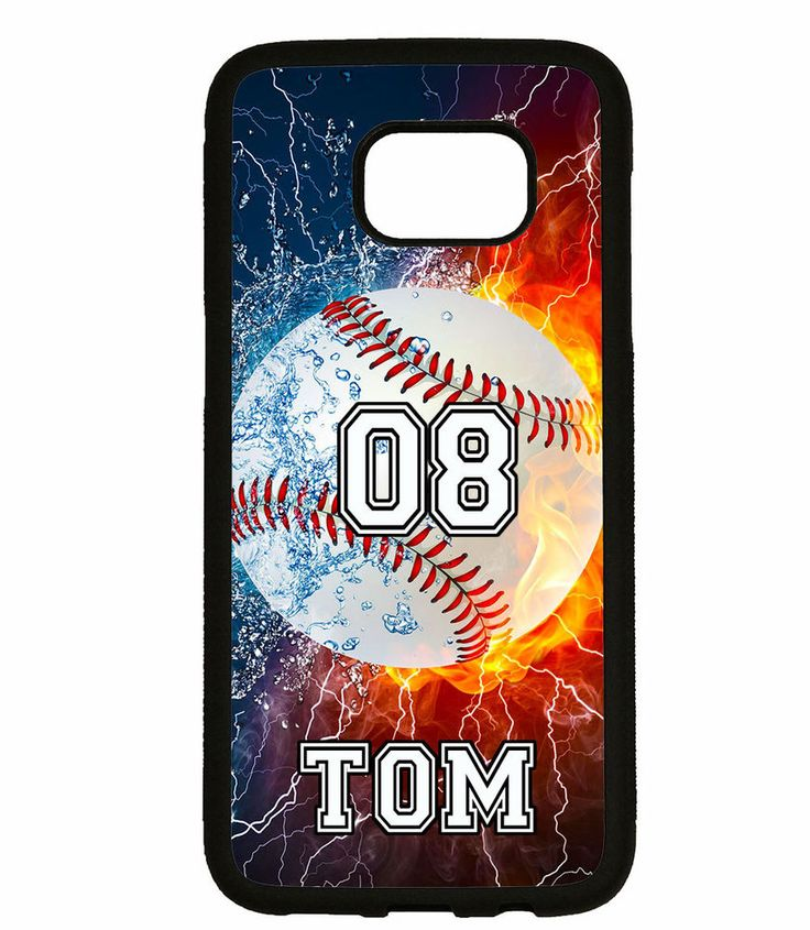 PERSONALIZED NAME NUMBER FIRE BASEBALL PHONE Case For Samsung Galaxy S7 S6 NOTE #UnbrandedGeneric