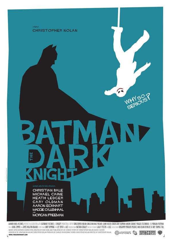 Batman - The Dark Knight poster on Behance - Saul Bass style