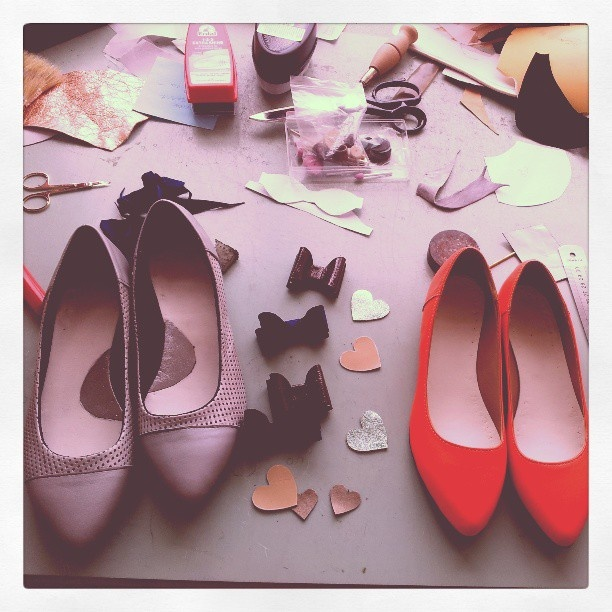 Morning! Another busy day...so many great Kali shoes in progress <3 - @kali_shoes- #webstagram    #shoes #love #ballerina #flats #red #quotes