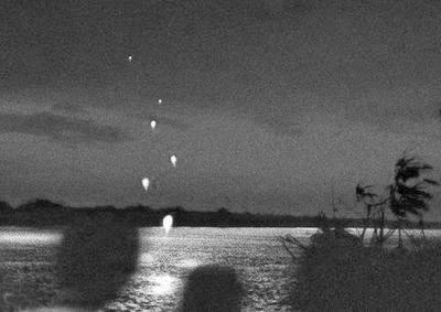 There is a river which shoot fireball in to air in Thailand