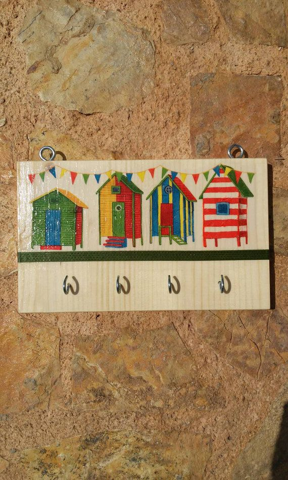 Vintage wall key holder summer housewarming gift by Zozelarium