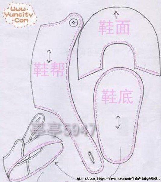 Zapatitos de tela para bebes paso a paso d zapatitos - Zapateros de tela ...